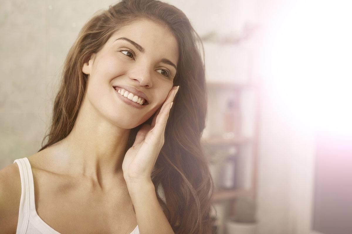 Schöne Haut: Auch der Säure-Basen-Haushalt spielt dabei eine Rolle.