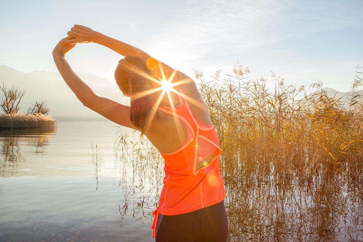 Sport hilft gegen Rückenschmerzen.