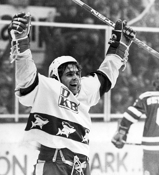Gerd Truntschka in seiner aktiven Profi-Eishockey-Zeit.