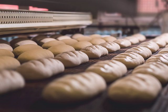 Industriell gebackenes Brot