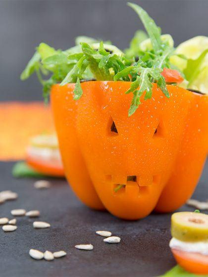 Halloween-Rezepte: Paprika und Tomate