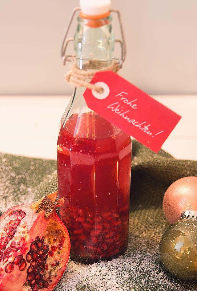 Granatapfel-Essig als leckeres und gesundes Weihnachtsgeschenk