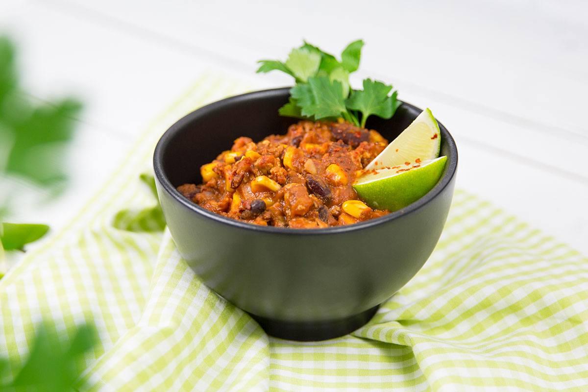 Viele Ballaststoffe und sehr lecker: Chili sin Carne