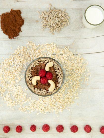 Magnesiumreich: Himmlische Schoko-Bowl mit Himbeeren